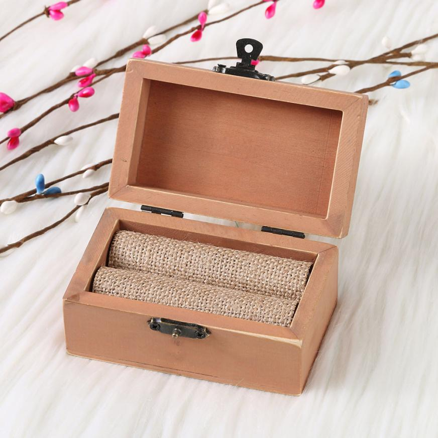 Personalized Wedding Retro Ring Box Holder Chic Rustic Wooden Jewelry Propose Marriage Vintage Decoration Supplies In Storage Bo Bins From