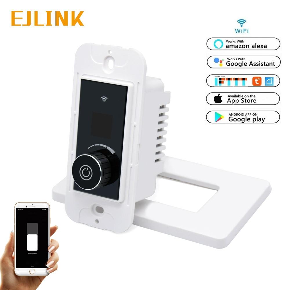 EJLINK Wifi variateur commande vocale interrupteur intelligent interrupteur bouton variateur fonctionne avec Alexa, google home, IFTTT