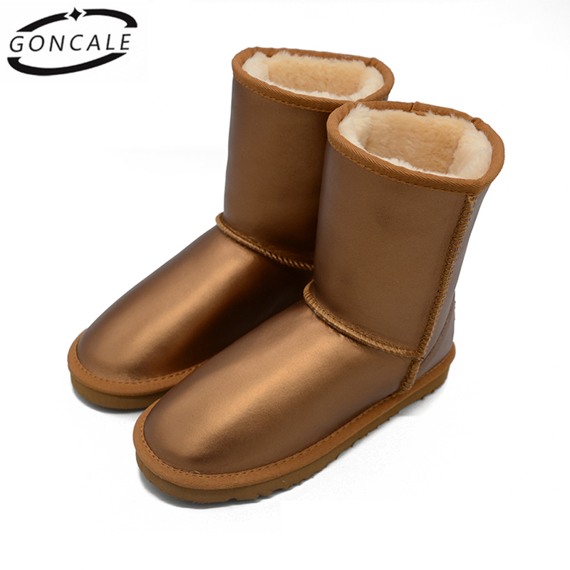GONCALE women winter shoes 2017 fashion Women Genuine Leather Snow Boots chaussure femme hiver womens Winter Boots goncale high quality band snow boots women fashion genuine leather women s winter boot with black red brown ug womens boots