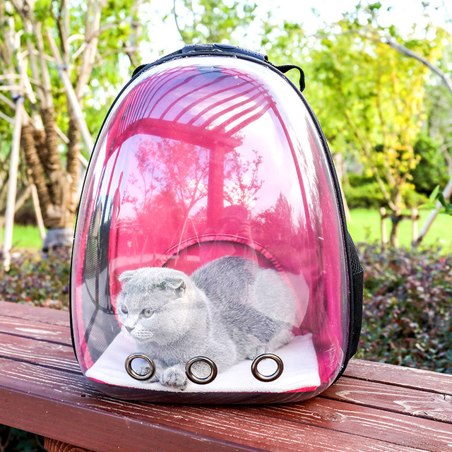 48c3a22a067d High Quality Pet Carrier Backpack Transparent Bag Cat Dog Outdoor Hiking Travel  Bag Space Astronaut Bag