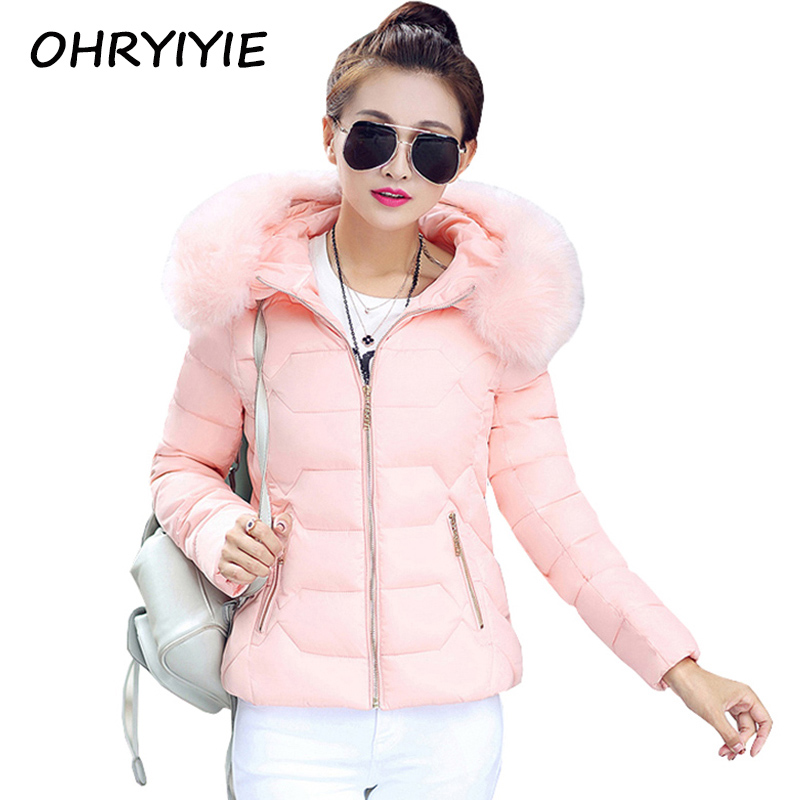 OHRYIYIE Manteau Femme Winter Jacket Women Fur Collar Abrigos Mujer Coat Parka 2017 Women Jackets and Coats y chaquetas invierno thick winter jacket men coat mens winter jackets and coats parka manteau homme hiver abrigos hombres invierno hot sale 023