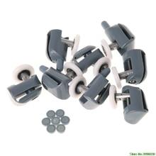 8 шт. Один Душ дверные ролики бегуны колеса шкивы направляющие 25 мм диаметр