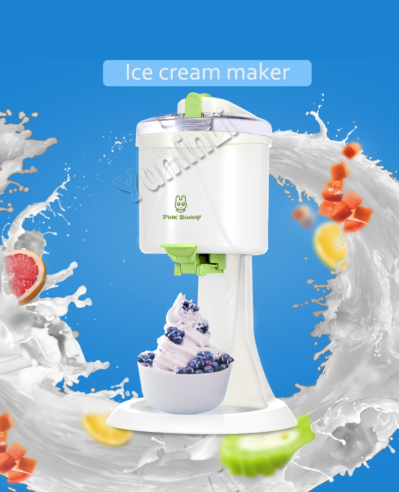 220V 21W DIY Electric Fruit Ice Cream Machine Home Ice Cream Maker 1L Automatic Ice Cream Machine BL-1000 220v 21w diy fruit ice cream machine home desktop automatic hard cone ice cream machine 1l large capacity ice cream cone machin