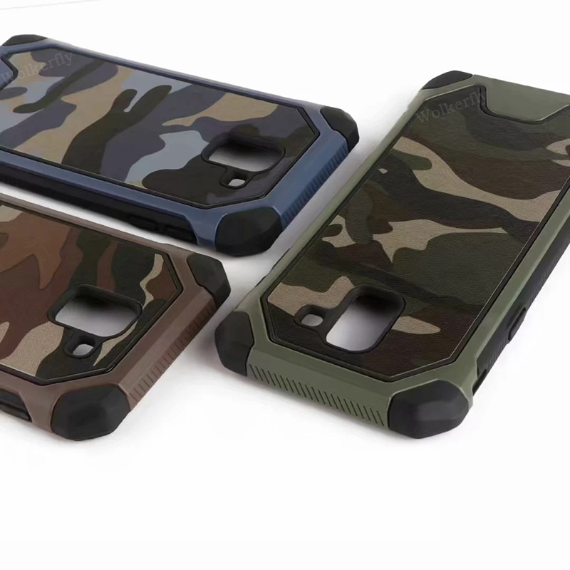 Stoßfest Armee Camouflage Fall Für <font><b>Samsung</b></font> Galaxy S9 S8 Plus A6 J4 J6 Plus 2018 J3 J5 J7 A3 A5 a7 2017 2016 S7 Hinweis 9 8 Abdeckung image