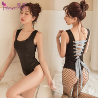 ropa sexy para el sexo crotchless bodysuit Sexy Women Lingerie Bodysuits Erotic Leotard Costumes Rubber Flexible Latex Catsuit