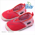 2016 Fashion Classical Striped Newborn Baby Boy Shoes Infant Baby Girl First Walker Sneaker Casual Straw Canvas Shoes Blue/Red