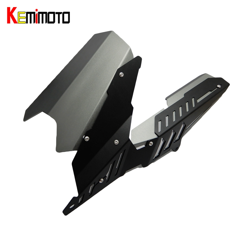 KEMiMOTO For YAMAHA YZF R3 R25 MT 03 MT03 MT-03 2013-2015 2016 2017 CNC Rear Fender Mudguard & Chain Guard Cover Kit YZF-R25 motorcycle cnc aluminum mudguard rear fender bracket license plate holder light for yamaha yzf r25 r3 yzf r25 yzf r3