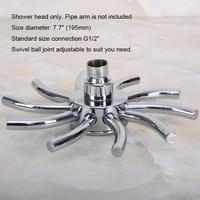 Modern Style 7.7 Inch Head Shower Wall Mounted Polished Chrome Bathroom Shower Head Top spray Nsh204