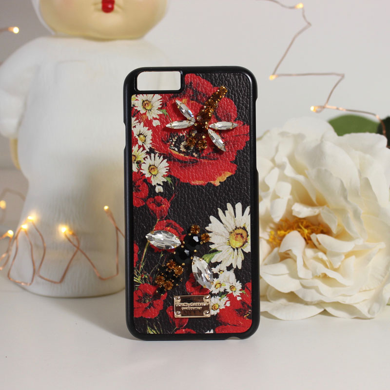 US $11 99 |Luxury Diy accessories daisy dragonfly PC phone Cover Cases For  Apple iPhone 6 6S-in Rhinestone Cases from Cellphones & Telecommunications