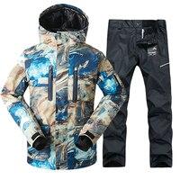 2019 GSOU снег мужской лыжный костюм ветрозащитный водостойкий Открытый Спортивная одежда зимняя куртка брюки лыжный спорт Сноуборд костюмы б