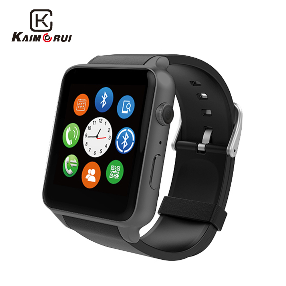 Kaimorui GT88 Smart Watch Android Pedometer Hjärtfrekvens Tracker Lighting Sport Smartwatch för IOS Andriod Phone Camera Watch