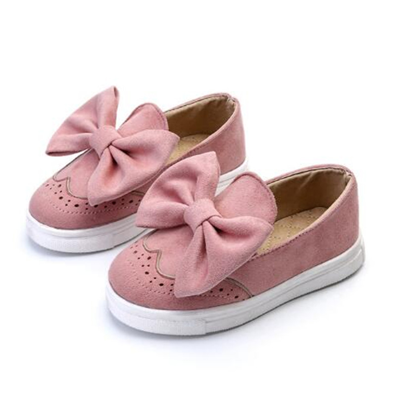 c488c5ed8 Kids Girls Spring Shoes With Bow Fashion Sneaker Children Baby Girl ...