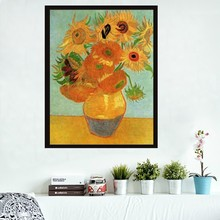 Classical painting sunflower canvas art by Van Gogh reproduction oil painting modern decoration gift for friends No Frame