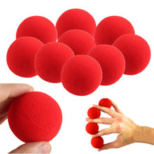 10PCs/lot High Quality 4.5cm New Fashion Close-Up Magic Sponge Ball Brand Street Classical Comedy Trick Soft Red Sponge Ball Toy(China)