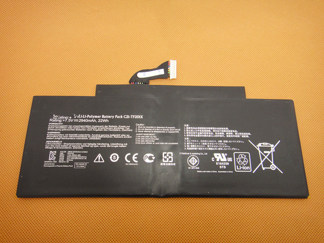 Genuína c21-tf201x orgininal bateria para asus transformer pad tf300t tf300tg tf300tl series laptop 7.5 v 22wh navio livre