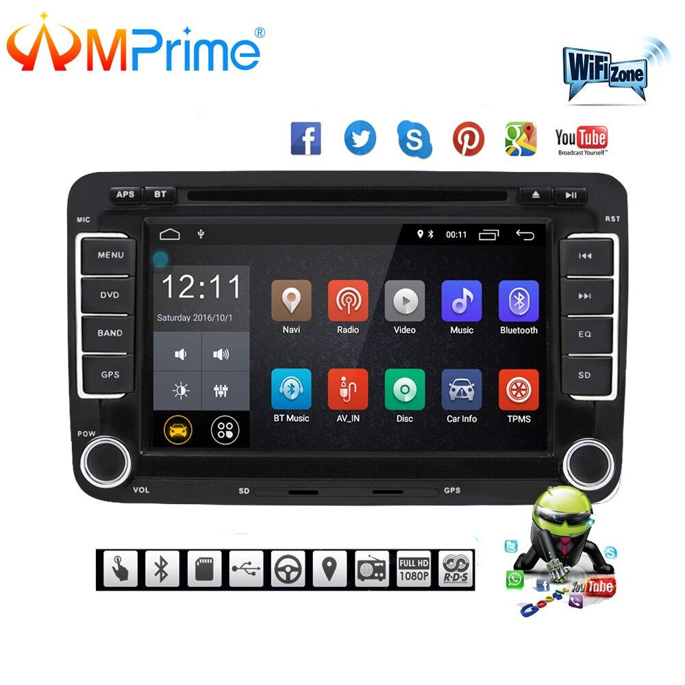 AMPrime автомобильный мультимедийный плеер Android 7 gps Авторадио 2 Din USB для Volkswagen/VW/Passat/Поло/Гольф/Skoda/Seat/леон радио Wi Fi