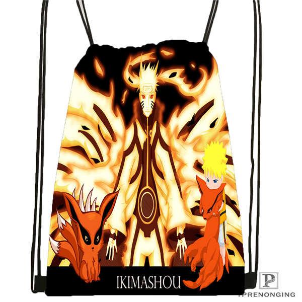Custom Naruto Drawstring Backpack Bag Cute Daypack Kids Satchel Black Back 31x40cm 2018611 2 5