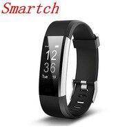 Smartch caliente Smart wristband ID115 Plus Smart banda podómetro fitness pulsera actividad Tracker Mp3 pulsera inteligente PK fit bit