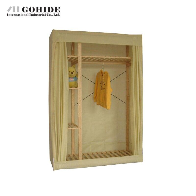 Gohide 132cm DIY Simple Wardrobe Hangers Eco-Friendly Wardrobe Home Furnishing Decoration Coat Hangers Lockers simple cm 379