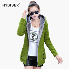 2015 Autumn Winter Jackets Women Casual Hoodies Coat Cashmere Coat Hooded Fleece Warm Long Jackets Plus Size XXXL 46