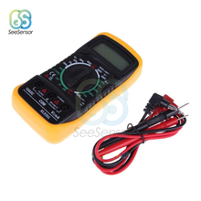 цена на XL830L Portable LCD Digital Multimeter Backlight AC/DC Ammeter Voltmeter Ohm Tester Meter Handheld Multimeter