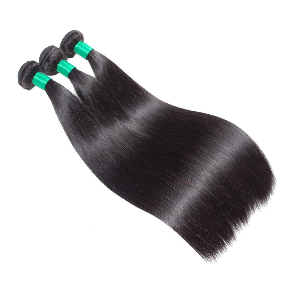 Gabrielle Straight Hair 3 Πακέτα με Κλείσιμο - Ανθρώπινα μαλλιά (για μαύρο) - Φωτογραφία 4