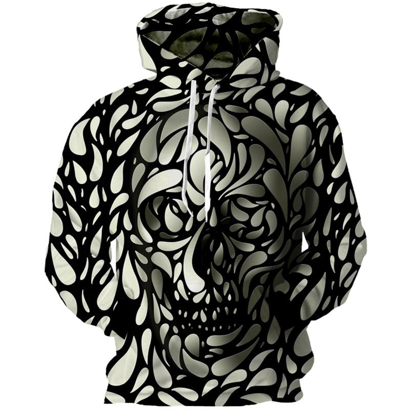 2019 New Spring Autumn 3D Skulls Punisher Hoodies