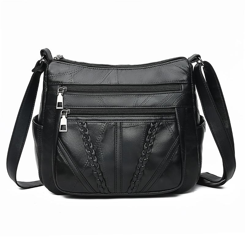 Женские Наплечные сумки из натуральной кожи, женские сумки для дам, сумки через плечо, роскошная дизайнерская сумка, высокое качество, Новин...