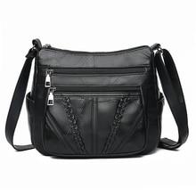 Women Shoulder Bags Genuine Leather Female Bags For Ladies Crossbody Bags Luxury Designer Handbag High Quality 2019 недорого