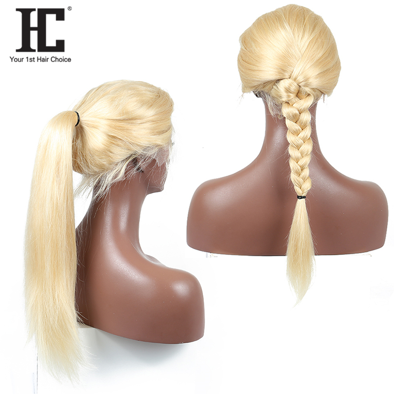 613 Honey Blonde Brazilian Remy Hair Wig With Baby Hair Glueless 613 Lace Front Human Hair Wigs For Black Women Pre Plucked HC