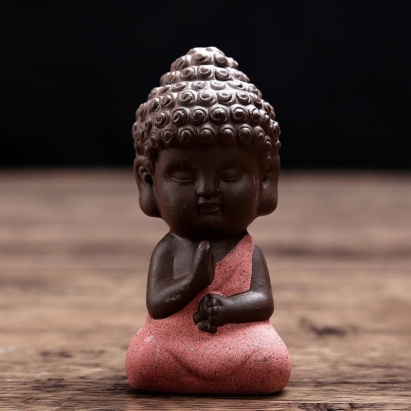 Kleine Buddha-Statue Mönch Figur Tathagata Indien Yoga Mandala - Wohnkultur - Foto 5
