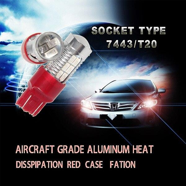 Valódi új utólagos felszerelésű fények 7443 kétfunkciós 22smd - Autó világítás