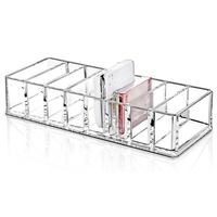 HIPSTEEN Solid Acrylic Cosmetics Makeup Show Shelf Rack Durable Desk Nail Polish Lipstick Storage Box