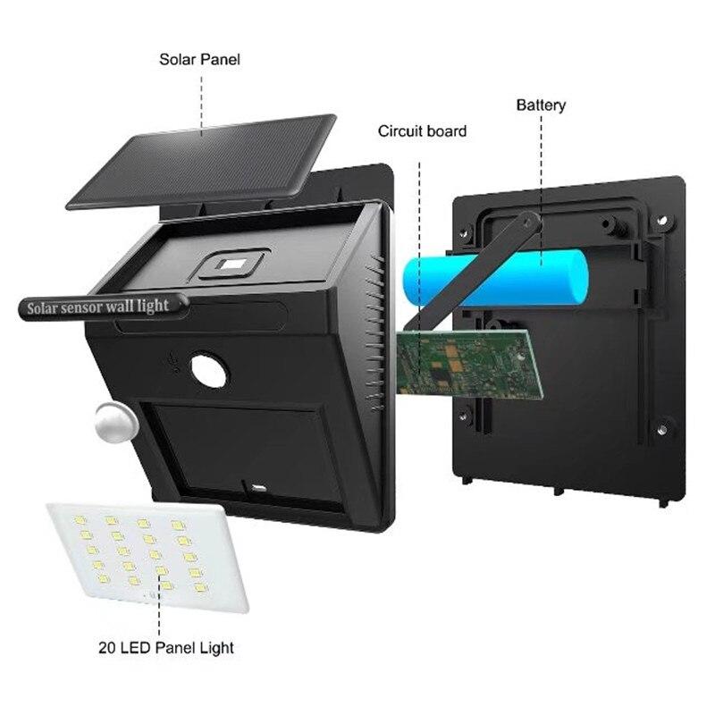 solar sensor de movimento pir luz 03