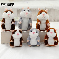 YNYNOO 18CM Talking Hamster Mouse Pet Plush Toy Hot Cute Speak Talking Sound Record Hamster Educational