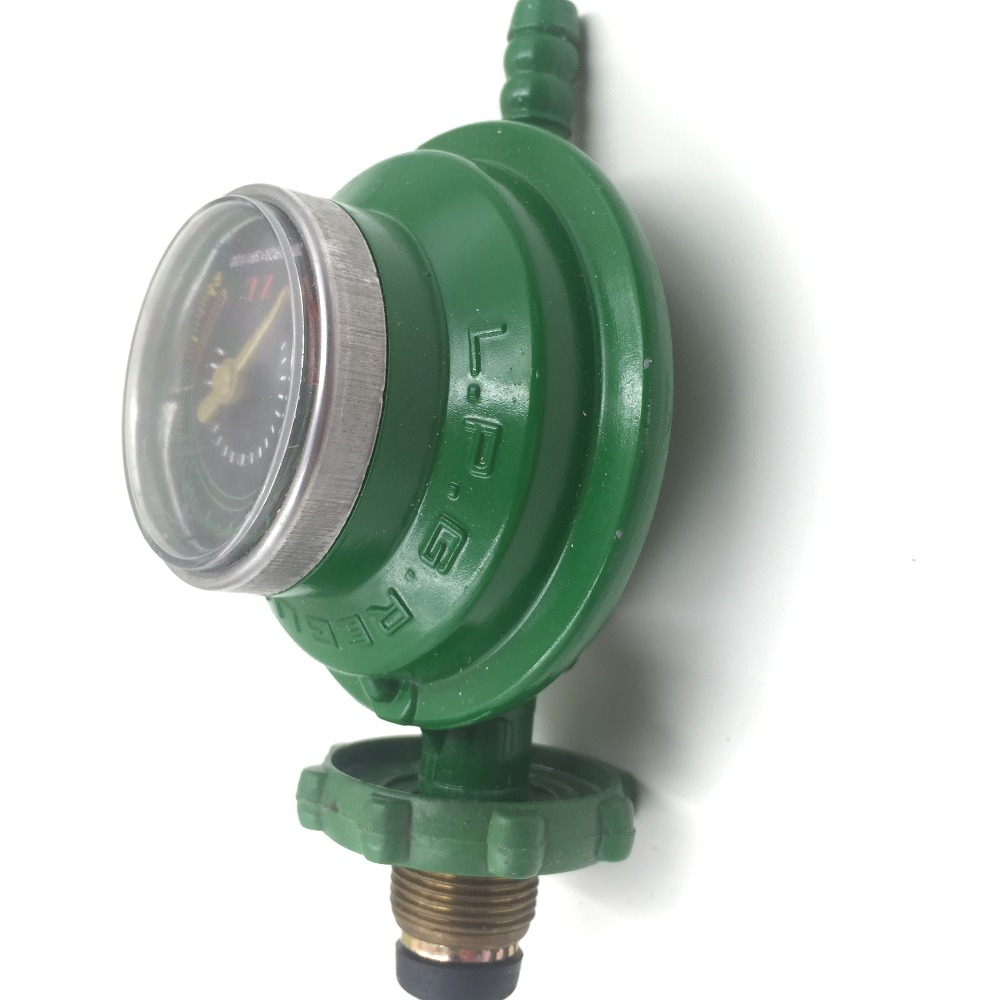 1 Inlet 1 Outlet Liquefied LGP Gas Gauge Pressure Regulator Green пистолет gav gv 0082