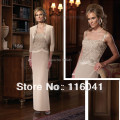 With Jacket Three Quarter Sleeve Ankle Length Two Piece Sheath Mother of the Bride Dresses Mother Dresses for Wedding