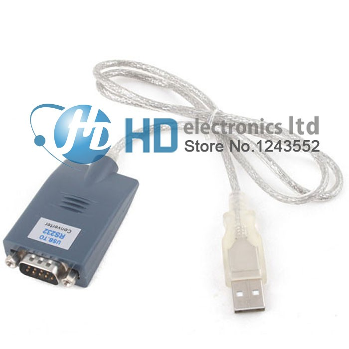 USB to RS232 DB9 DB25 Serial Cable Adapter New with Driver Windows 32 64 bit