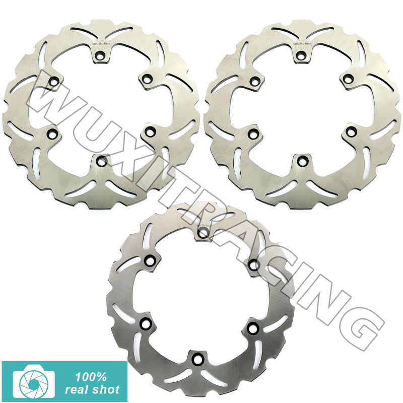 93 94 95 96 97 98 99 Motorcycle Front Rear New Full Set  Brake Discs Rotors for Honda VFR 750 F VFR750F 1988 1989 CBR 1000 F FP full set front rear brake discs disks rotors pads for suzuki gsxr 750 94 95 gsx r 1100 p r s t 1993 1994 1995 1996