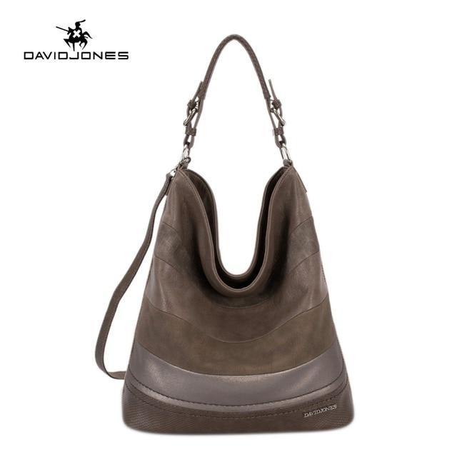 8cad86c8f05d DAVIDJONES women handbag faux leather female shoulder bags big lady  serpentine tote bag girl brand messenger bag drop shipping