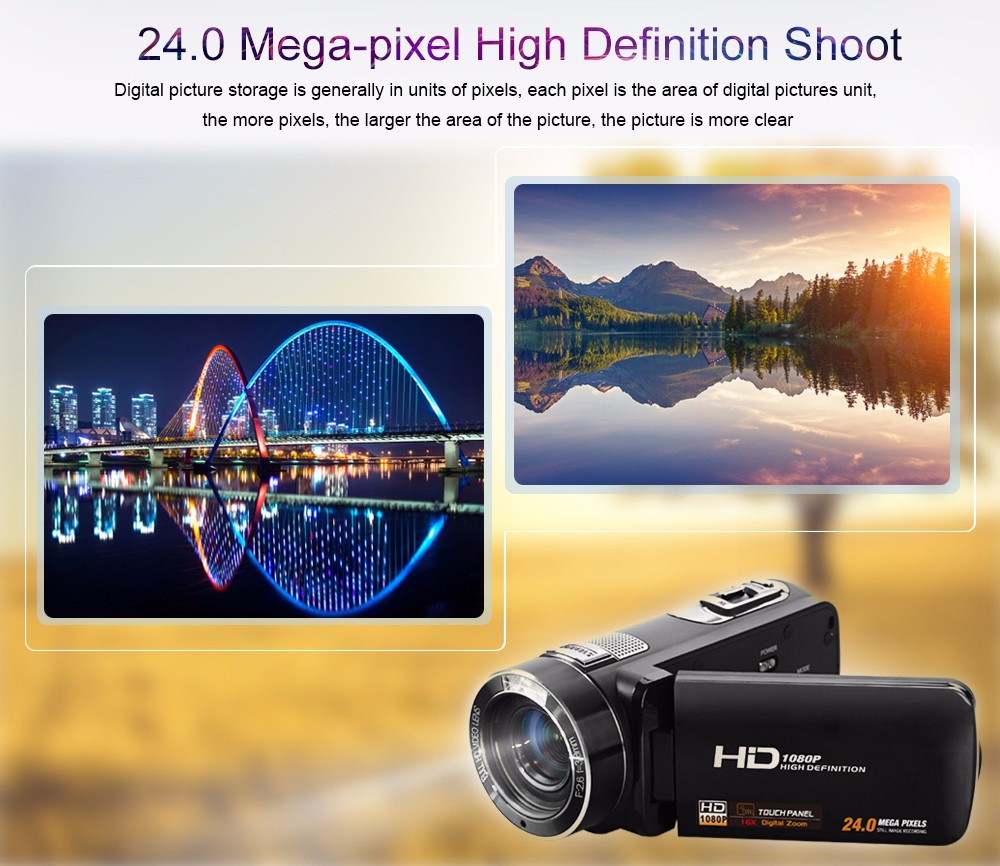 """Ordro Camcorder HDV-Z8 Plus 1080P FHD Digital Video Camera 3.0"""" LCD Touch Screen with Remote Control USB Port HDMI Output 4"""
