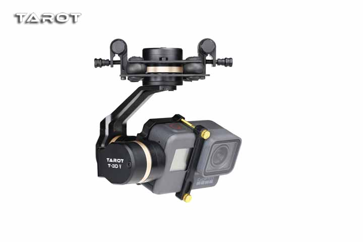 Tarot 3D V Metal TL3T05 3 axis PTZ Gimbal Camera Stablizer for GOPRO Action Camera FPV Drone Spare Parts fpv 3 axis cnc metal brushless gimbal with controller for dji phantom camera drone for gopro 3 4 action sport camera only 180g