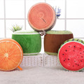 Inflatable stool Creative cartoon fruit benches seat upholstery plush cute child adult children sofa