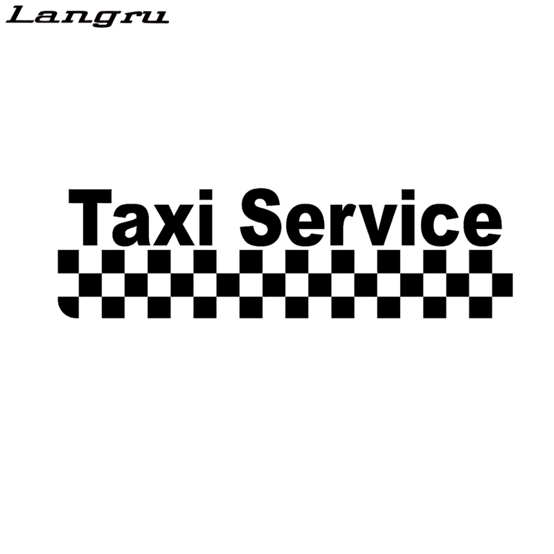 Langru Fashion Taxi Service Magnet Vinyl Car Sticker Car-styling Decals Jdm(China)
