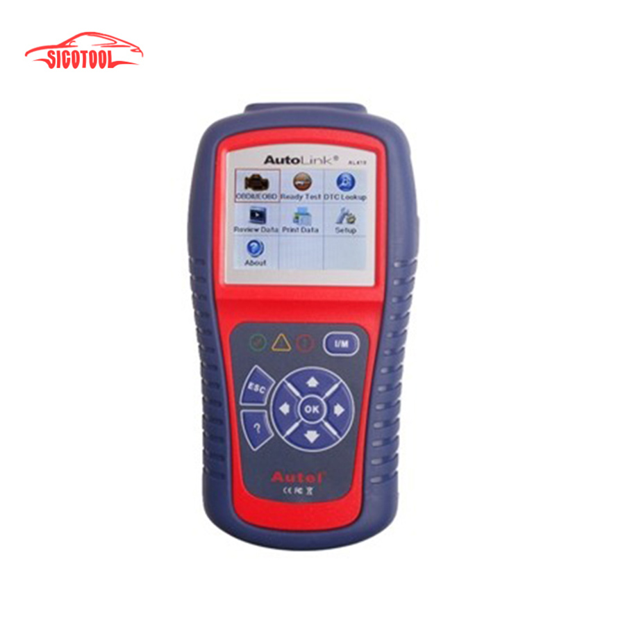 ФОТО Car Diagnostic Scan Tool Autel AutoLink AL419 OBD II & CAN Code Reader AL-419 Free Online Update with Troubleshooter code tips