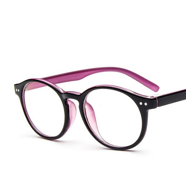 gafas real 2017 new korean style vintage round glasses frames 2292 double colors oversized hipster eyeglass