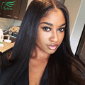 7A Brazilian Virgin Hair Glueless Lace Front Human Hair Wigs Black Women Silky Straight Glueless Full Lace Wigs With Baby Hair