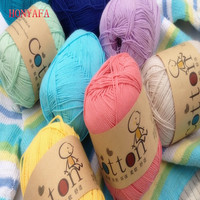 500g 10pcs/lot Best Quality Soft Cotton 100% Baby Milk Hand knitted Yarn Crochet Yarn for Knitting Scarf Wool Yarn