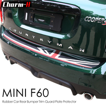 Rubber Car Rear Bumper Guard Protector Union Jack Flag Scuff Protective Decal Sticker For Mini Cooper Countryman F60 2017-On стоимость