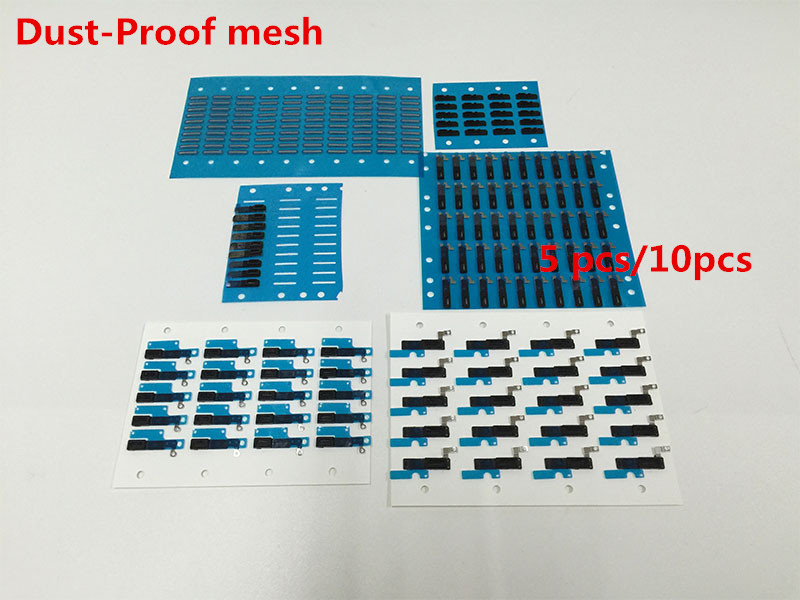 5pcs&10pcs/lot Rubber Dust-proof Net Mesh Stickers For iPhone 4 4S SE 5 5S 5C 6 6S 7 8 + Plus Earpiece Speaker Aniti Dust Mesh